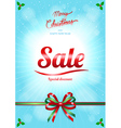 Chrismas and happy new year sale poster vector image