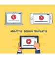 Web Template of Adaptive Video Form vector image