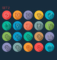 Round Thin Icon with Shadow Set 2 vector image