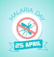 25 April Malaria Day vector image