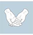 helping hands vector image vector image