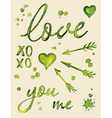 Watercolor love lettering vector image