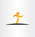 letter t man walking icon vector image