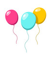 Balloons colorful ballon set isolated on white vector image