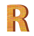 brick letter R vector image