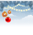 Christmas winter background vector image