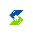 cinema letter s logo vector image