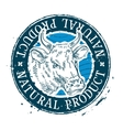 cow logo design template milk or beef vector image