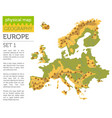 flat europe physical map constructor elements vector image