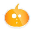 Halloween sticker with pumpkin isolated on white vector image