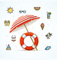 hello summer concept vacation on beach vector image