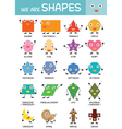 Kids Basic Shapes Chart vector image