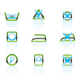 laundry care and fabric symbols and icons vector image
