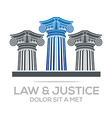 law building and justice icon vector image