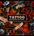 old school tattoo seamless pattern vector image