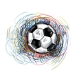 soccer color ball vector image