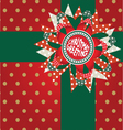 christmas greeting post card vector image vector image