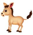 Cute donkey cartoon vector image vector image