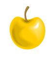 Big Yellow Apple vector image vector image
