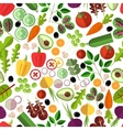 Salad ingredients seamless pattern vector image vector image
