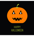 Cute funny pumpkin Candle in the eyes Halloween vector image