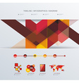 Simple infographic dashboard template with bright vector image vector image