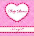 Baby-shower-cell-heart-banner-girl vector image