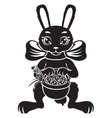 hare with basket vector image vector image