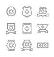 Line Icons Medical Ambulance label set icons vector image