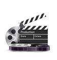 movie realistic theme eps 10 isolated on white vector image