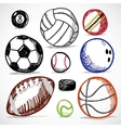 Ball Sport Doodles vector image