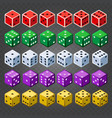 casino dice set on transparent background vector image