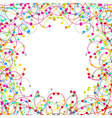 Frame made of colored network vector image