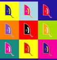 iron sign pop-art style colorful icons vector image