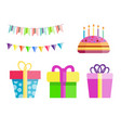 party gift box celebration happy birthday surprise vector image