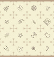 seamless outline christmas pattern vector image
