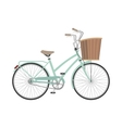 Bicycle in flat style vector image