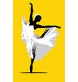 Ballerina dancing vector image vector image