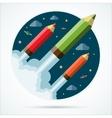 Flat design modern startup concept vector image vector image