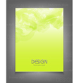 template for a business with a green strokes vector image vector image