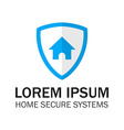 Blue Shield Home Security vector image vector image