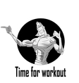 Athlete cartoon theme vector image
