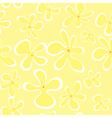 Summer flowers seamless pattern vector image