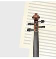 violin neck vector image vector image
