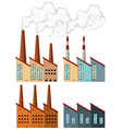 Factory buildings with chimneys vector image