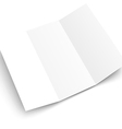 Blank white booklet template mockup Template for vector image vector image