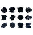 black paint ink brush strokes vector image