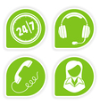 Business support icons vector image