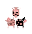 Funny cows for your design vector image