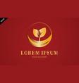 gold leaf seeds logo vector image
